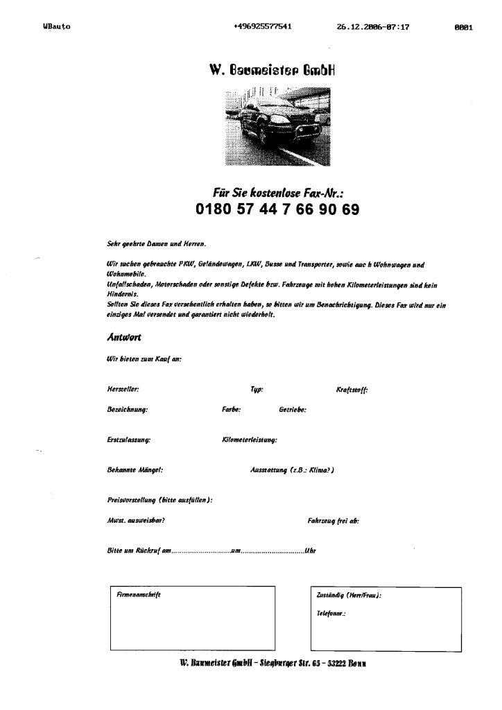 Werbefax W. Baumeister GmbH