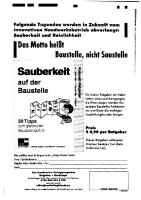 """Anonymität aufgedeckt - Werbefax """"Sauberkeit auf der Baustelle"""""""