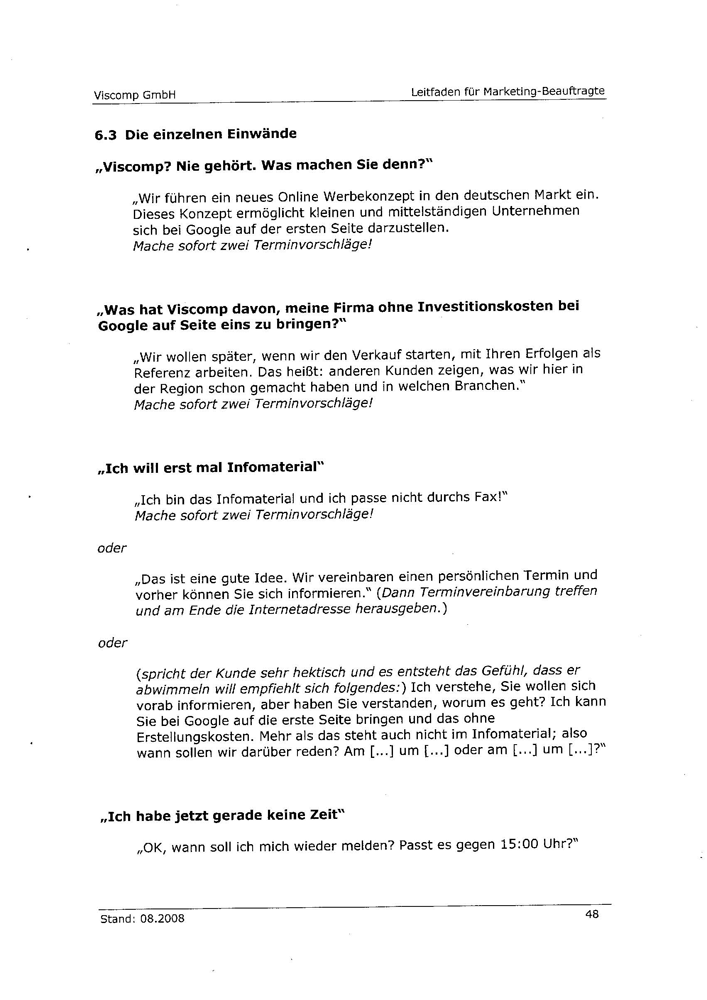 Angeblicher Leitfaden der Viscomp GmbH Seite 4