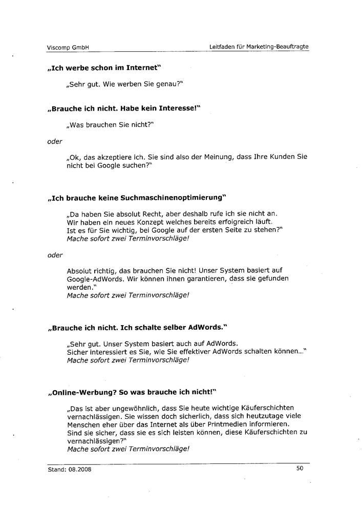 Angeblicher Leitfaden der Viscomp GmbH Seite 6