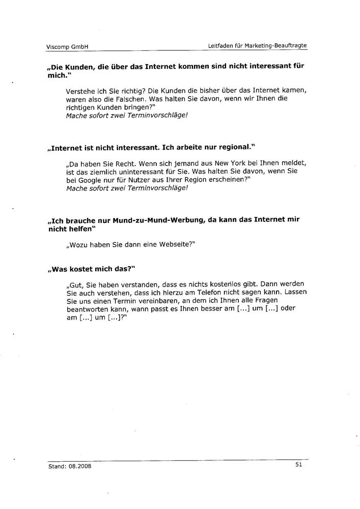 Angeblicher Leitfaden der Viscomp GmbH Seite 7