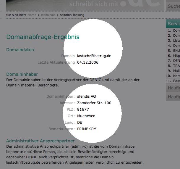 DENIC-Auskunft zu lastschriftbetrug.de
