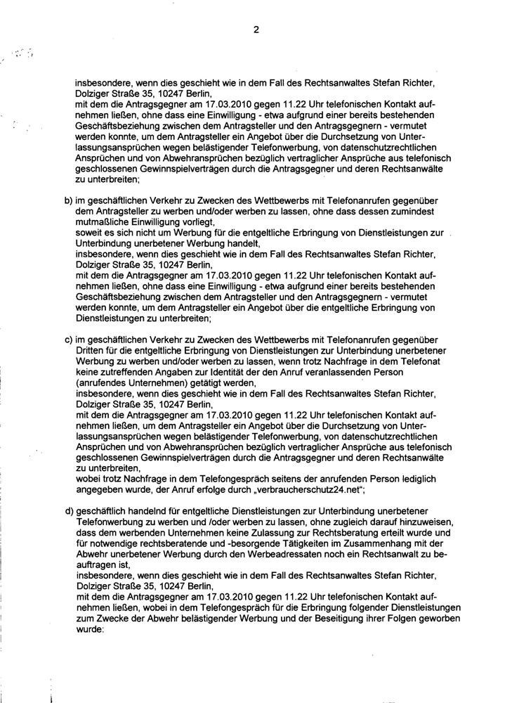 Einstweilige Verfügung LG Berlin Seite 2